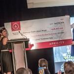 Sarah Chan and a big donation